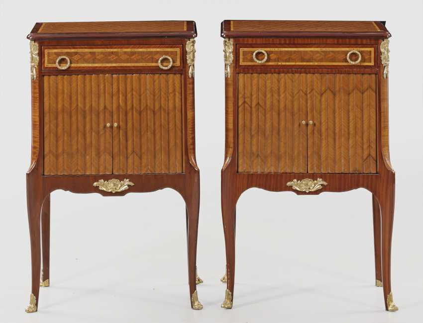 Pair of pillar cabinets in transition style - photo 1