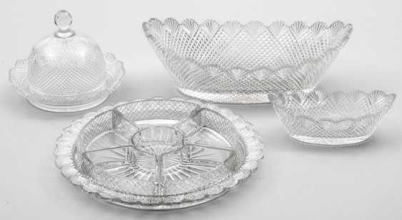 Four crystal glass objects in Victorian style - photo 1