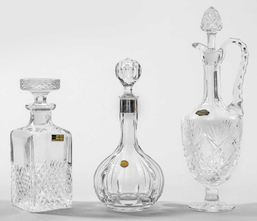 Three carafes with stoppers - photo 1