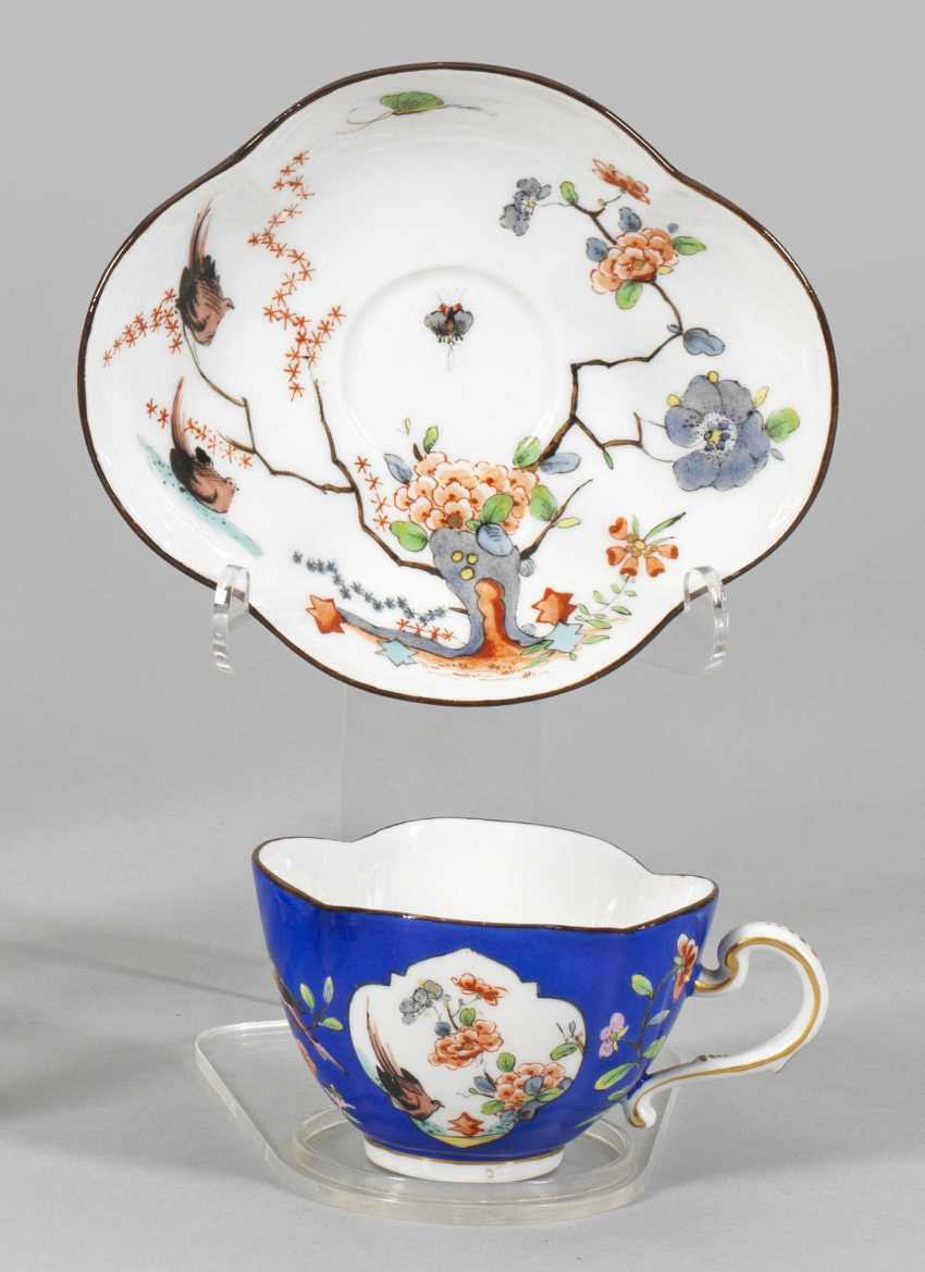 Mocha cup with cherry blossom and bird decor - photo 1