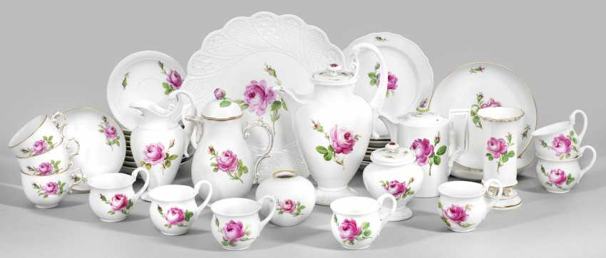 """Coffee leftover service with """"Red Rose"""" decor - photo 1"""