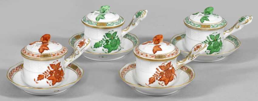 "Ten ""Apponyi orange and green"" cocoa cups - photo 1"