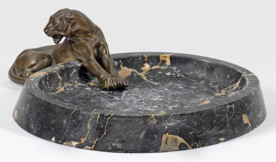 Art Deco decorative or business card holder with a panther - photo 1