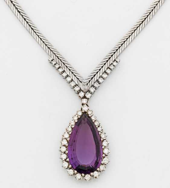 Elegant amethyst necklace from the 1960s - photo 1