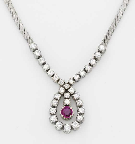 Ruby necklace from the 1960s - photo 1