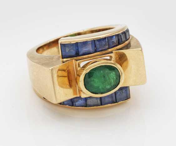 Art Deco-Smaragdring - photo 1