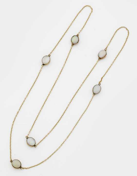 Sautoire with white opals - photo 1