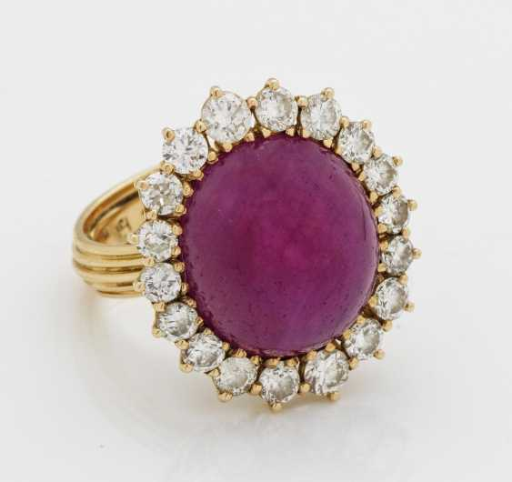 Magnificent ruby ring with diamonds - photo 1