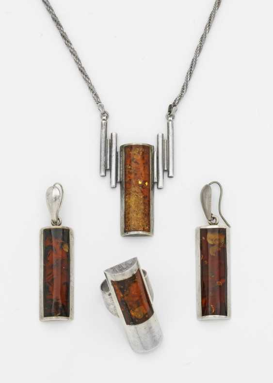 Art Deco jewelry parure with amber - photo 1