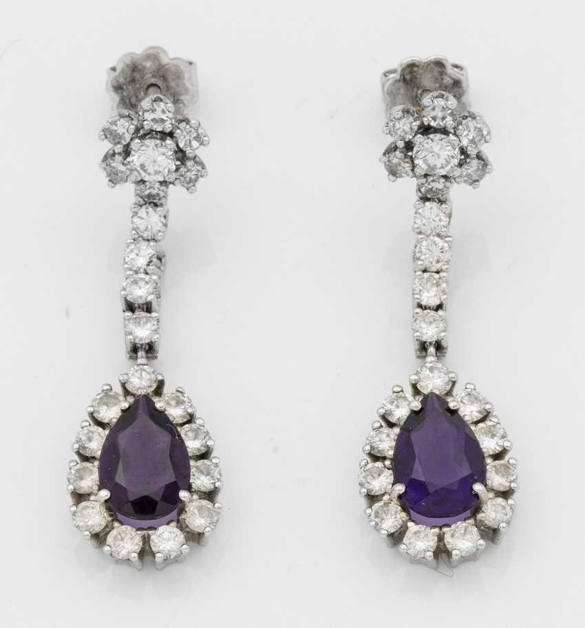 Pair of elegant amethyst earrings - photo 1