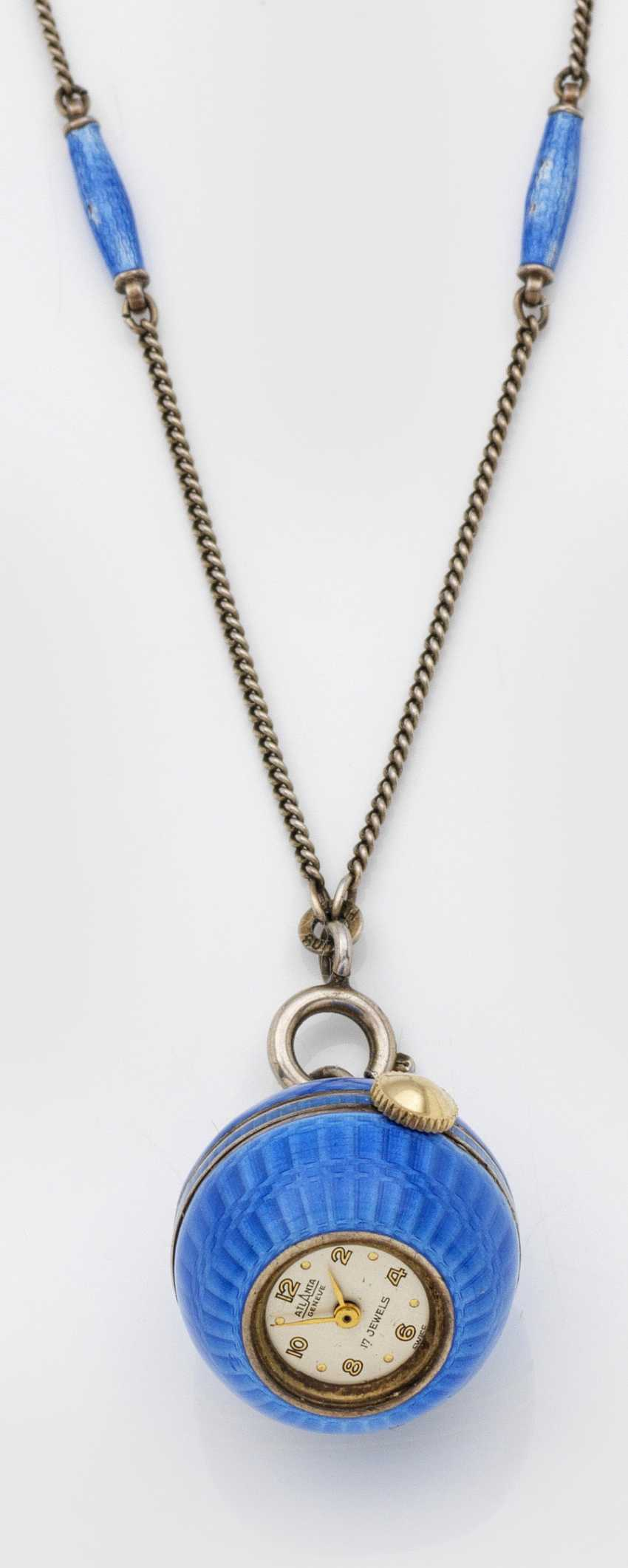 Sautoire with a spherical clock pendant from the 1930s - photo 1