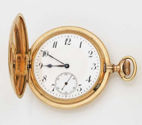 Gold hunter pocket watch - photo 1