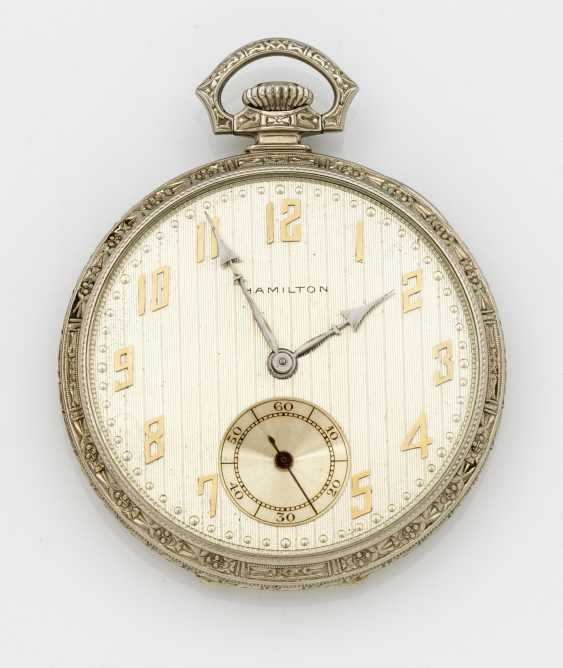 Art Deco Pocket Watch by Hamilton Watch & Co., Mancaster Pa. - photo 1
