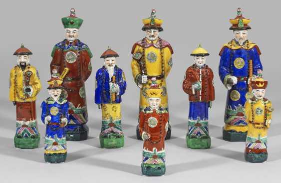 Neun Figuren aus dem kaiserlichen Hofstaat - photo 1