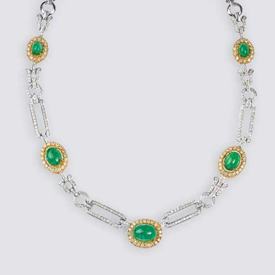 Elegant Emerald-Brilliant-Necklace - photo 1