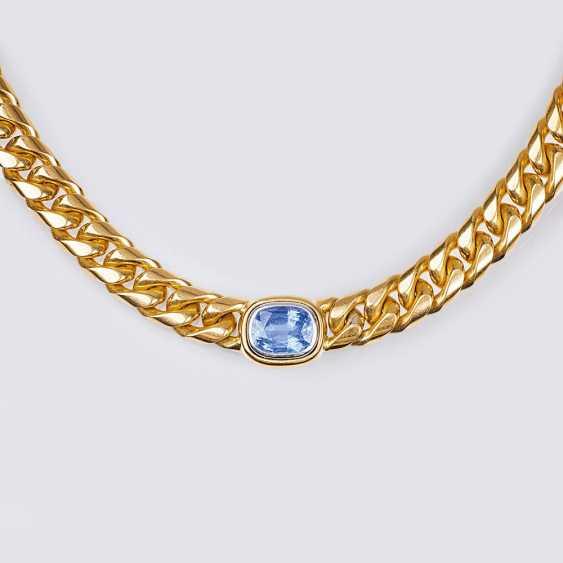 Gold-Necklace mit Saphir - photo 1