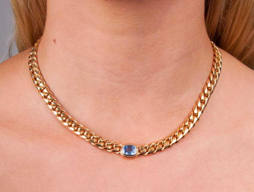 Gold-Necklace mit Saphir - photo 2