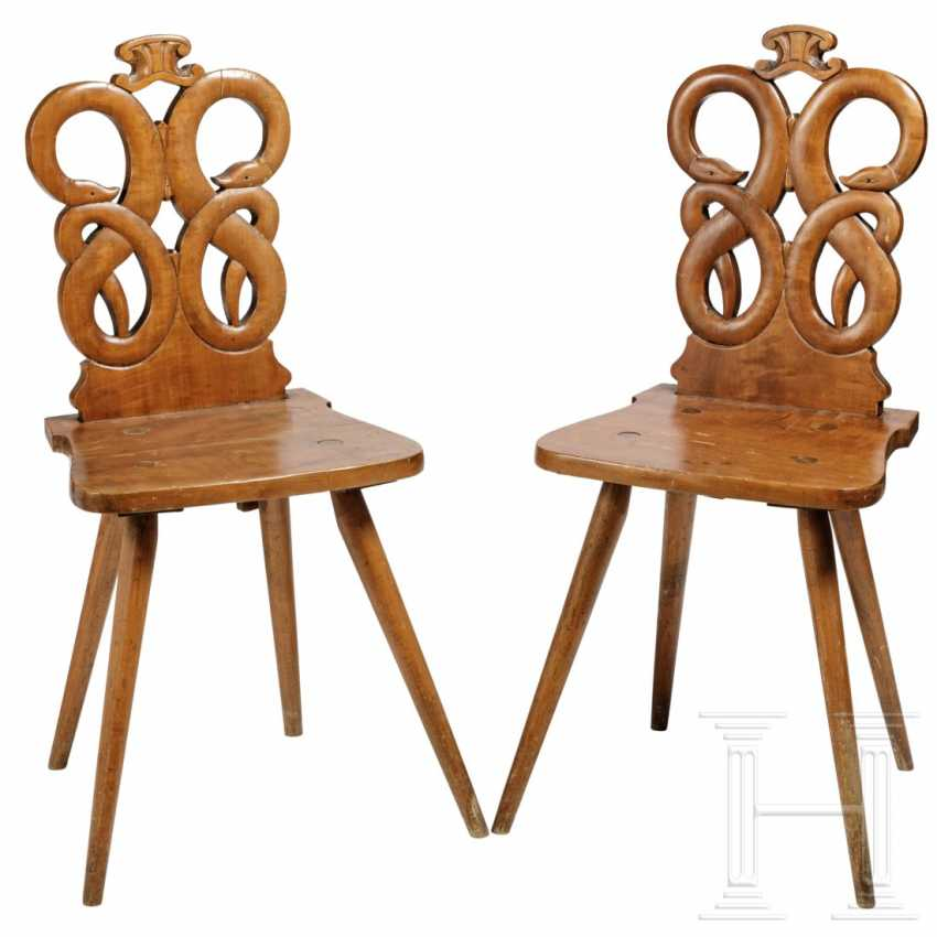 A pair of snake chairs, Hesse, 19th century - photo 1