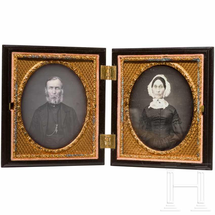 A pair of daguerreotypes, England / USA, around 1850/60 - photo 1