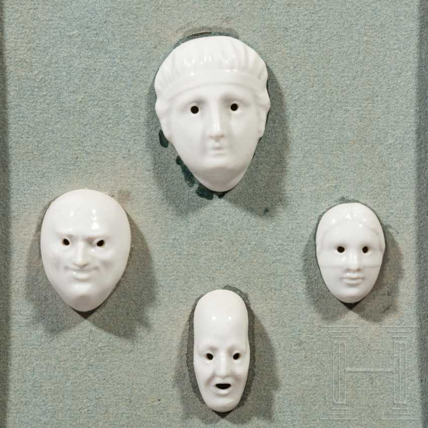 Classicist frame with porcelain mascarons, designed by August Göhrings (1891 - 1965), Nymphenburg, 20th century - photo 3