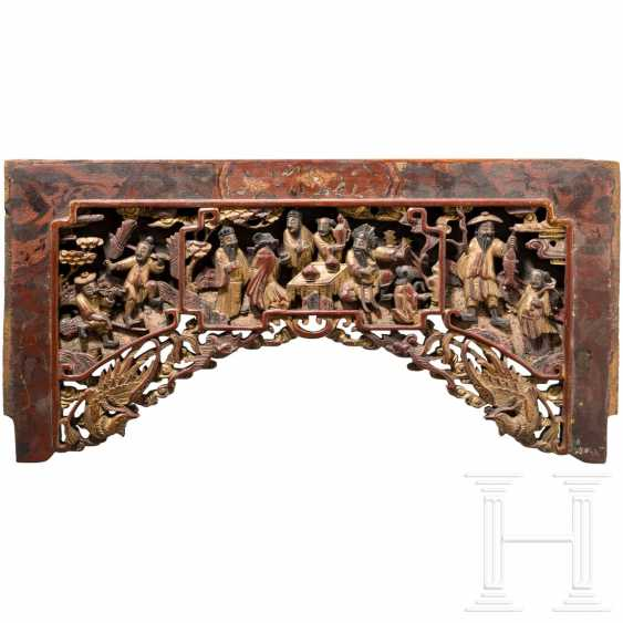Carved panel of a room divider, China, 18./19. century - photo 3