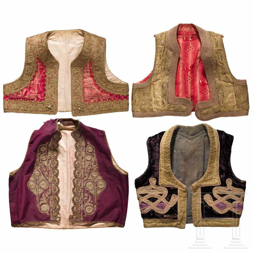 Four embroidered vests, Balkan Turkish, 1st half of the 20th century - photo 1