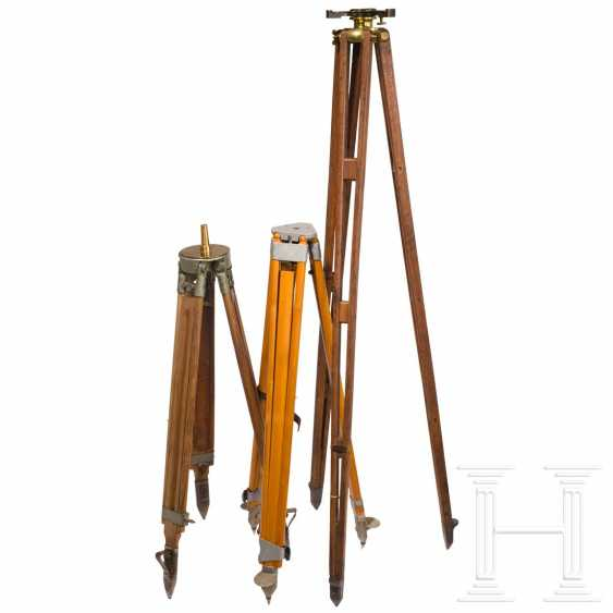 Eight boxes and three tripods for optical equipment, 20th century - photo 2