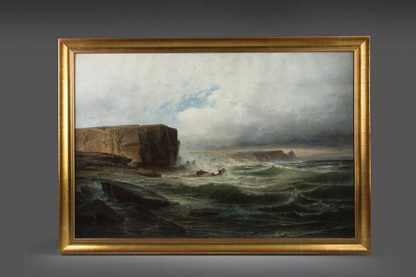 Seascape with coastal cliffs, - photo 1