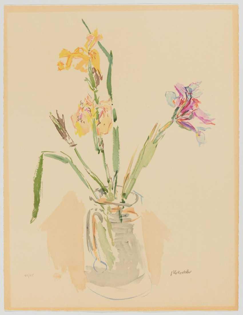Yellow and purple irises - photo 2