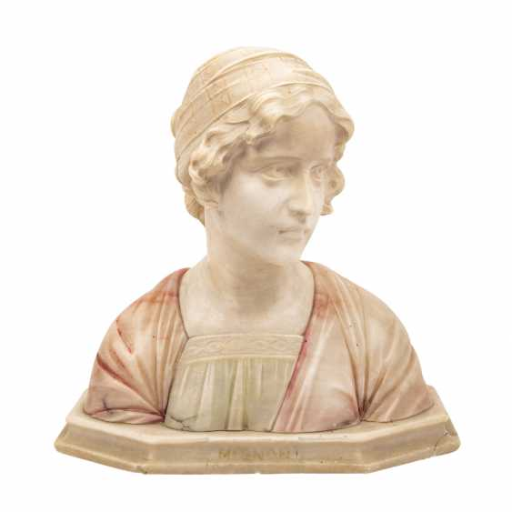 """BESSI, GIUSEPPE (1857-1922) """"Büste eines Mädchens"""" - Foto 1"""