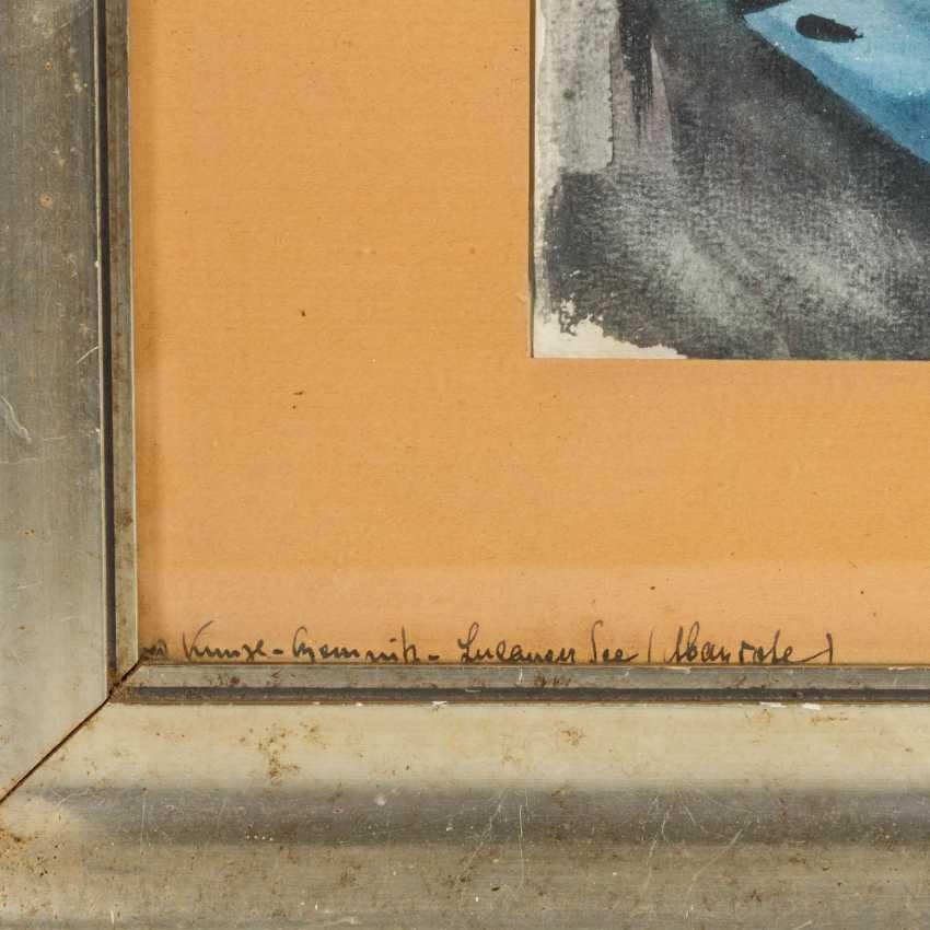 """KUNZE-CHEMNITZ, ALFRED (1866-1943), """"Luganer See"""", - photo 4"""