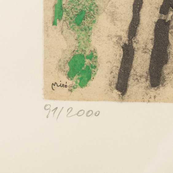 "MIRÓ, Joan, AFTER (1893-1983), 5 color lithographs ""Figural Composition"", - photo 4"