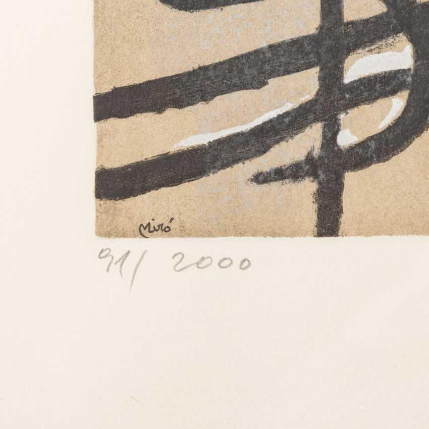 "MIRÓ, Joan, AFTER (1893-1983), 5 color lithographs ""Figural Composition"", - photo 6"