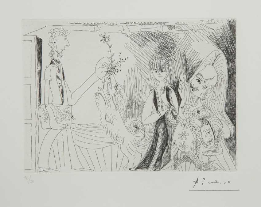 PABLO PICASSO 1881 Málaga - 1973 Mougins SHEET 69 FROM THE SERIES '156 GRAVURES' - photo 1