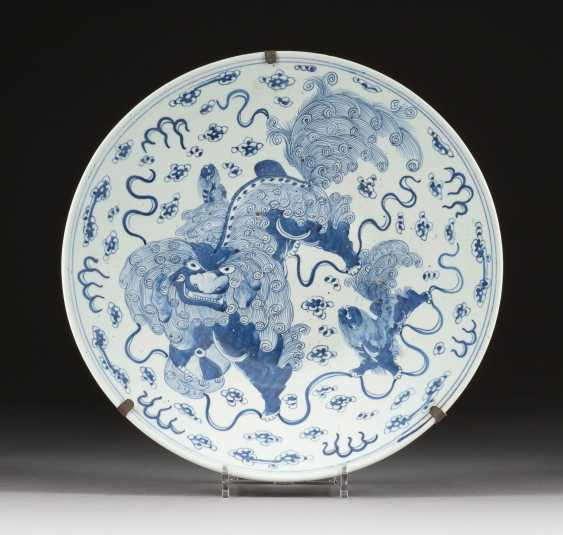 LARGE WALL PLATE WITH FO LIONS Japan - photo 1