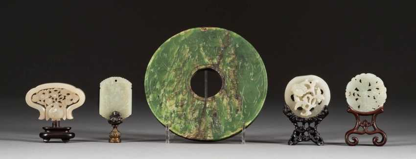 CINQ SCULPTURES DE JADE Chine - photo 1