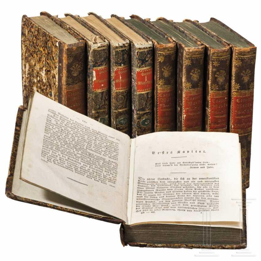 Neun Bände aus dem Werk James Fenimore Coopers - Foto 1