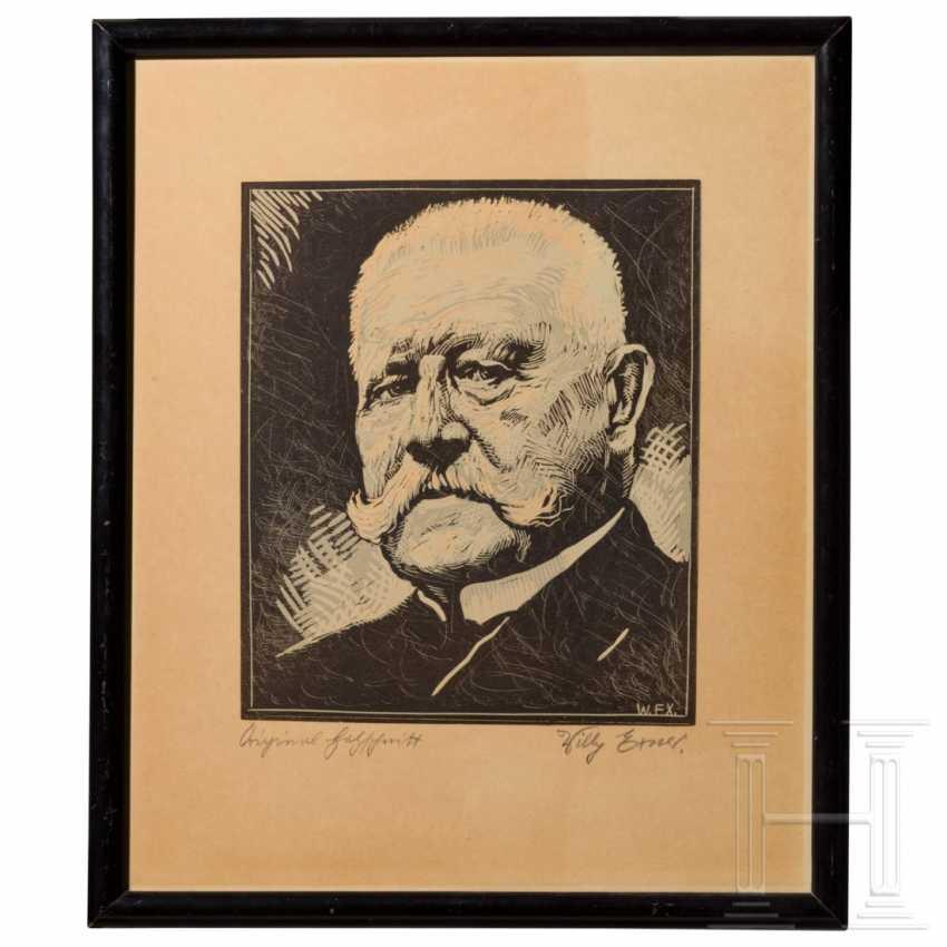 Willy Exner - Portrait of Paul von Hindenburg - photo 1