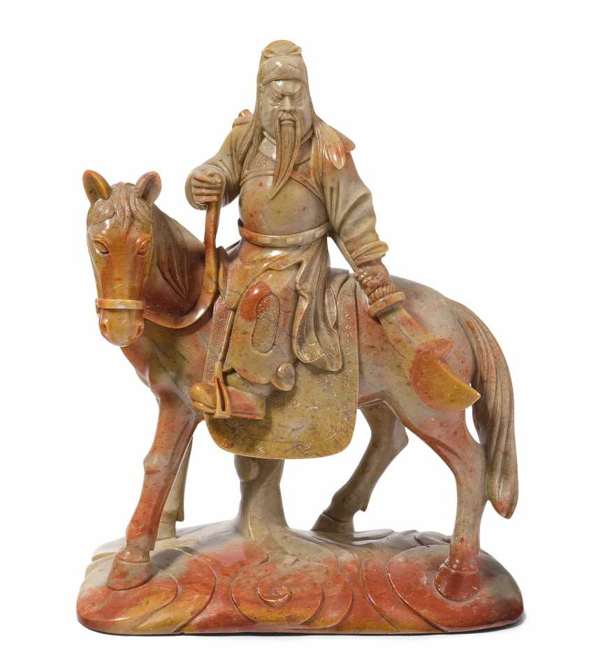 Figure group: Guan Yu on horse - photo 1