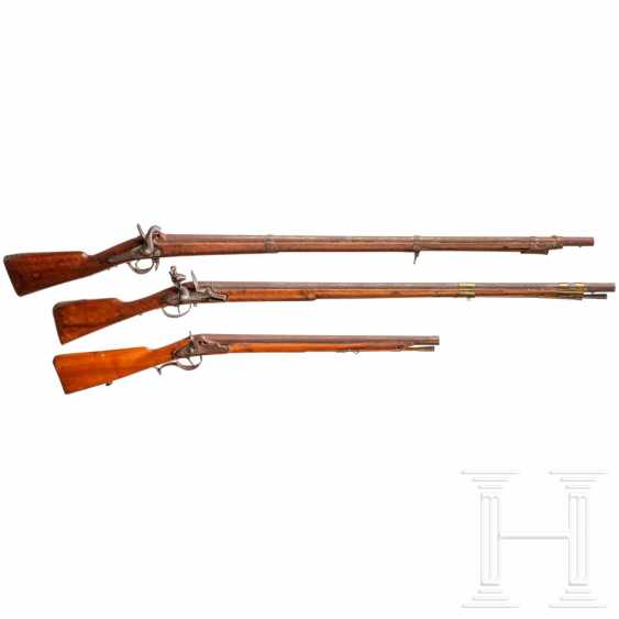 Infantry musket M 1854 and two foreign rifles - photo 1