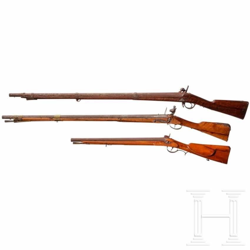 Infantry musket M 1854 and two foreign rifles - photo 2