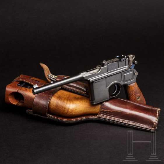 """Mauser C 96 """"Wartime Commercial"""" mit kaiserlicher Abnahme, Anschlagkasten und Belederung - photo 1"""