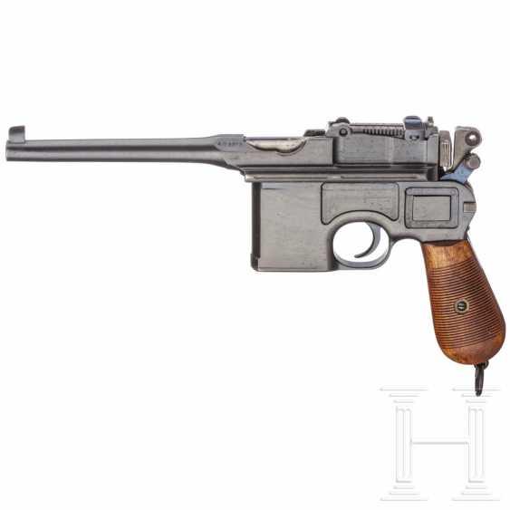 """Mauser C 96 """"Wartime Commercial"""" mit kaiserlicher Abnahme, Anschlagkasten und Belederung - photo 2"""