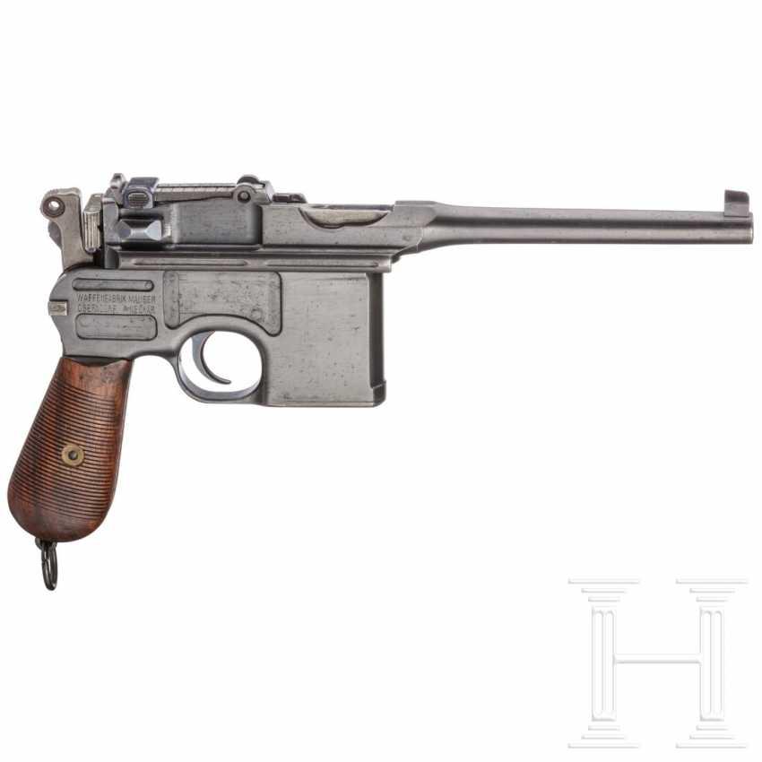 """Mauser C 96 """"Wartime Commercial"""" mit kaiserlicher Abnahme, Anschlagkasten und Belederung - photo 3"""