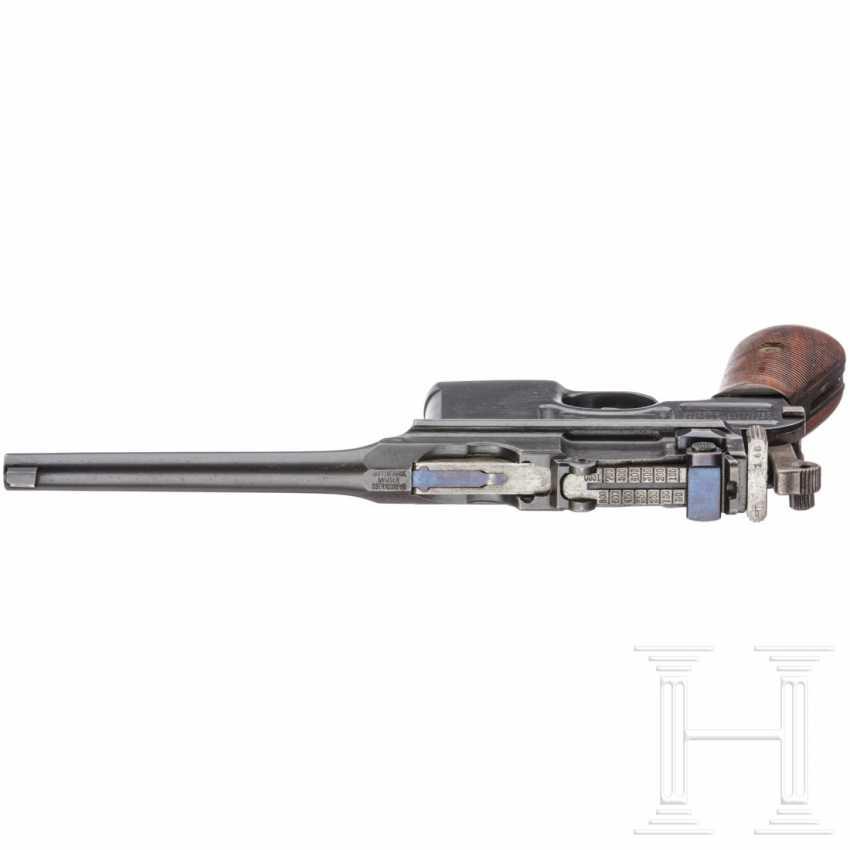 """Mauser C 96 """"Wartime Commercial"""" mit kaiserlicher Abnahme, Anschlagkasten und Belederung - photo 4"""