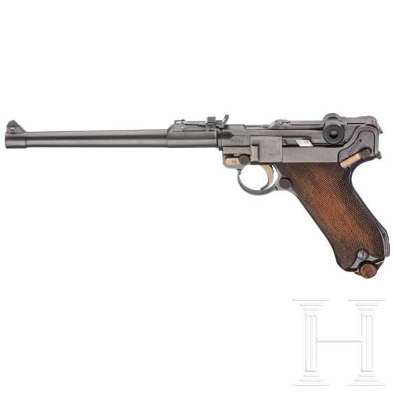 Lange Pistole 08, DWM 1918, mit Schulterstück und Tasche, im Koffer - photo 1