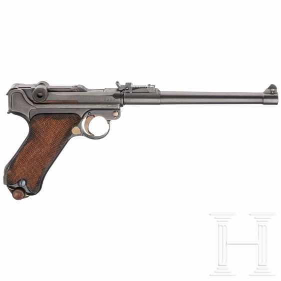 Lange Pistole 08, DWM 1918, mit Schulterstück und Tasche, im Koffer - photo 2