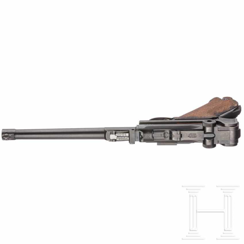 Lange Pistole 08, DWM 1918, mit Schulterstück und Tasche, im Koffer - photo 3