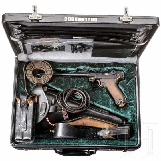 Lange Pistole 08, DWM 1918, mit Schulterstück und Tasche, im Koffer - photo 4