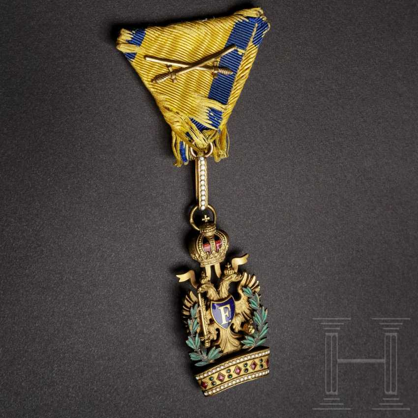 Imperial Austrian Order of the Iron Crown, 3rd class (Knight's Cross), with war decoration (KD) - photo 1